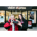Lucky Kendal Local Won Free Pair of Glasses as Refurbished Vision Express Opened its Doors