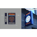Ljusskylt i specialutförande till Skandinavisk Yoga og Meditationsskole i Danmark, Köpenhamn