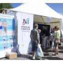 Solskolans tält i Visbys småbåtshamn var välbesökt och omkring 280 personer scannades i UV-kameran