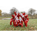 Thousands of Santas 'Ho Ho Ho' to the finish line in a festive fun run