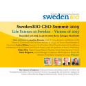 SwedenBIO CEO Summit Dec. 3rd 2009, Berns Salonger in Stockholm