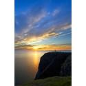 Midnight sun over the North Cape