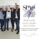 Hooks Herrgård Spa & Fitness är Årets Nyhet i Spa Awards 2015