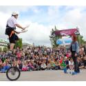 Internationell gatufestival till Larmtorget
