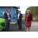 Statsministeren åpnet hydrogenstasjon ved Oslo Lufthavn