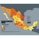 Karta över försvunna i Mexiko