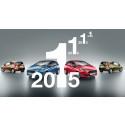 Ford Fiesta är den mest sålda småbilen i Europa 2012, 2013, 2014 och 2015