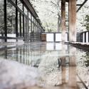 Varm källa med körsbärsblomning  / Hot spring in cherry blossom