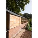 Redskapsbod och växthus i kombination