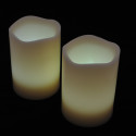 Blockljus med färgval och fjärr 3-pack-frilagd vita