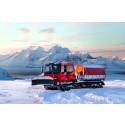 STV levererar bandvagn 87 mil norr om världens nordligaste stad Hammerfest!
