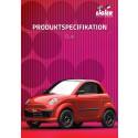 Produktspecifikation för mopedbilen Ligier Dué