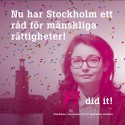 Nu får Stockholm sitt Råd för mänskliga rättigheter