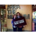 ABBA THE MUSEUM CELEBRATES 500,000th VISITOR
