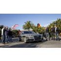Självkörande Audi A7 på väg från Silicon Valley till CES 2015 i Las Vegas