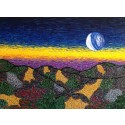 Dawn! An expressionist painting mirroring the start of a brand new day. New challenges but also new opportunities.