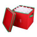 Väska för julkulor - locket öppet