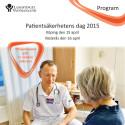 Program Patientsäkerhetens dag 2015