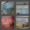 Klassisk neonskylt till e-handelsbutiken Sleepo med fysisk butik i Stockholm