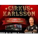 Cirkus Karlsson kommer till XL-BYGG Hässleholm 6/5