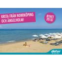 Nyhet 2016 med Detur från Norrköping och Ängelholm är Kreta