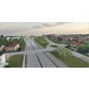 Slutspurt för arbetena kring nya E4 i Skönsberg/Haga