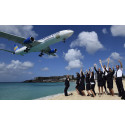 Hårrejsende landing på Saint Martin