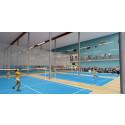 Interiör Badmintonhallen