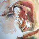 Akvareller med rörelse och dans