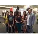 Some cast members of the musical, Singapura
