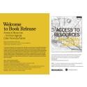 """Release av boken """"Access to Resources - An Urban Agenda"""""""
