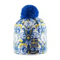 Falun light knitted hat with pompom