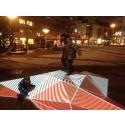 Interaktiv ljusskulptur på Triangeltorget