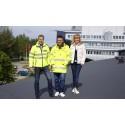 Solcellspark byggs på Universitetstaket i Piteå