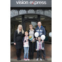 Young Surrey Eye Cancer Charity Representative Opens Vision Express Store in Cranleigh
