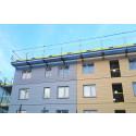 Fallskydd och hängbryggor från SafetyRespect höjer säkerheten på nytt bostadsprojekt i Stockholm
