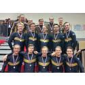 Två silver och ett brons för de svenska lagen på NM i truppgymnastik