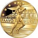 Paavo Nurmen kultajuoksuja kunnioitetaan juhlarahalla 90 vuotta Pariisin olympialaisten jälkeen