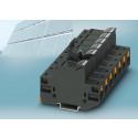 Sikringsrækkeklemme med Push-in tilslutning til solcelleapplikationer