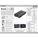 Sound Blaster E5 Product sheet