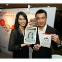 Portraits of the People: MediaCorp artiste Joanne Peh and Dr. Eugene Tan, Director of National Gallery Singapore, with their self-portraits at this afternoon's Portraits of the People media event.