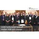 Unikt kulturavtal tecknat mellan VGR och Litauen