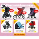 Prispressade barnvagnar och bilbarnstolar