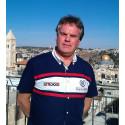 Joakim Wohlfeil, Diakonias policyrådgivare i konflikt och rättvisa. Här på plats i Jerusalem.
