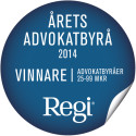 Moll Wendén Årets Advokatbyrå 2014