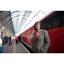 LAUNCH DAY - Rail Minister Claire Perry with the first train to carry the new Virgin Trains East Coast livery at London King's Cross station.