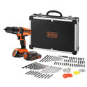 EGBL188BAFC 18V 2B hammer drill + 160 accessories in a flight case