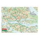 Karta över alternativa vägar