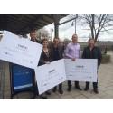 Tre vinnare utsedda som ger regionen en boost