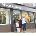 Young Eye Cancer Survivor Represents CHECT Charity Open New Look Hillsborough Vision Express